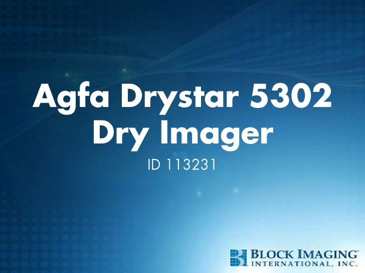 Agfa Drystar 5302Dry Imager<br />ID 113231<br />