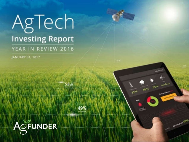 AGTECH FUNDING REPORT 2014: YEAR IN REVIEW | AGFUNDER.COM