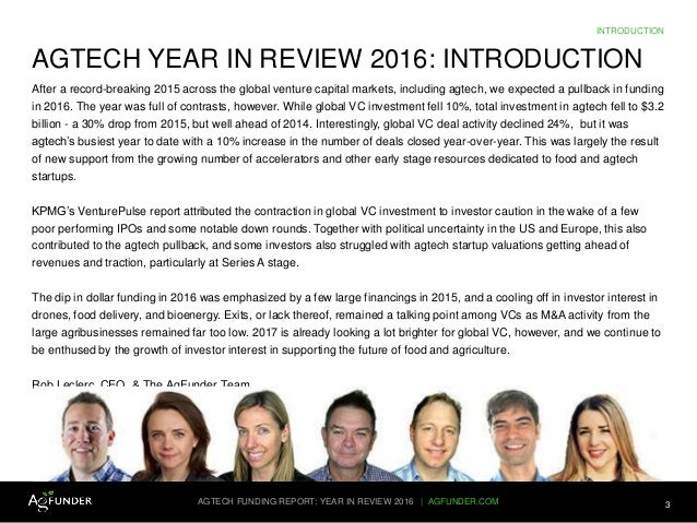 AgFunder AgTech Investing Report 2016