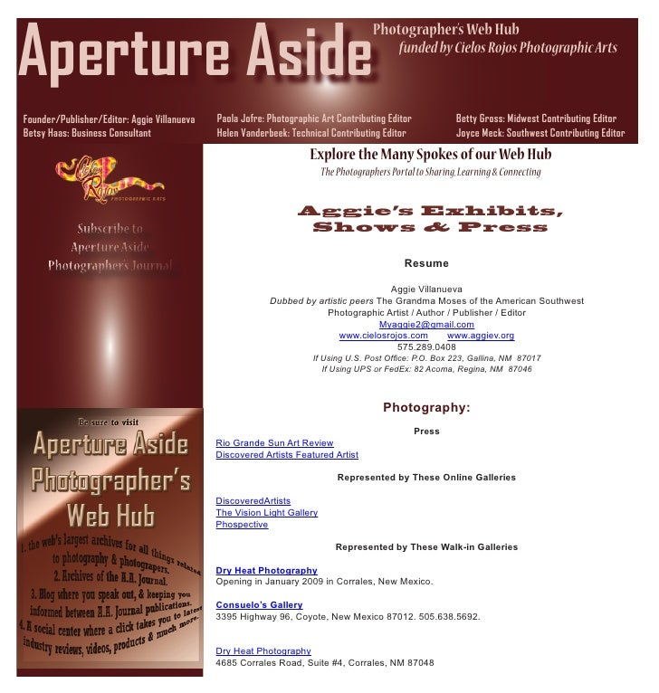 Aperture Aside                                                                                      Photographer's Web Hub...
