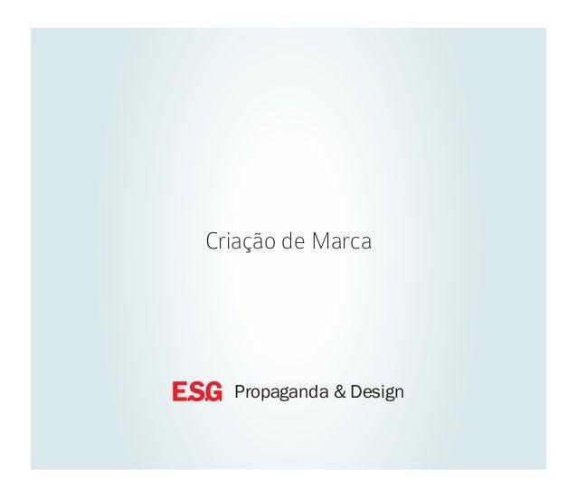 Criação de Marca  Propaganda & Design