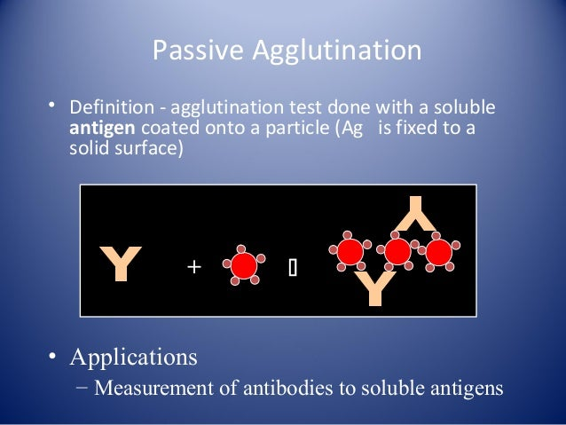 particle agglutination test The test is a passive agglutination procedure based on the agglutination of gel particles sensitized with t pallidum antigens by antibodies found in the patient's serum (1-3.