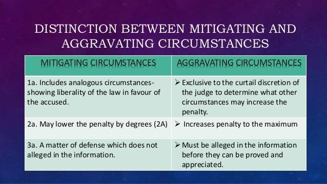 aggravating circumstances