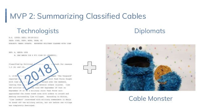 MVP 2: Summarizing Classified Cables Technologists Diplomats