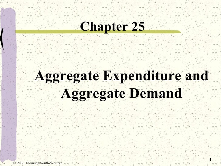 Aggregate Expenditure and Aggregate Demand <ul><li>Chapter 25  </li></ul>© 2006 Thomson/South-Western