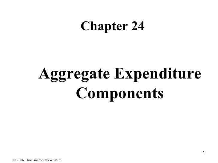 Aggregate Expenditure Components <ul><li>Chapter 24 </li></ul>© 2006 Thomson/South-Western