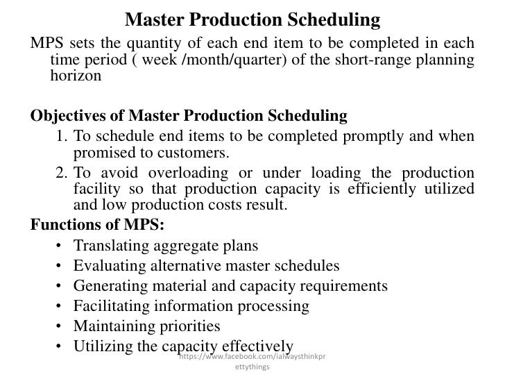 Master production schedule powerpoint templates, slides and graphics.