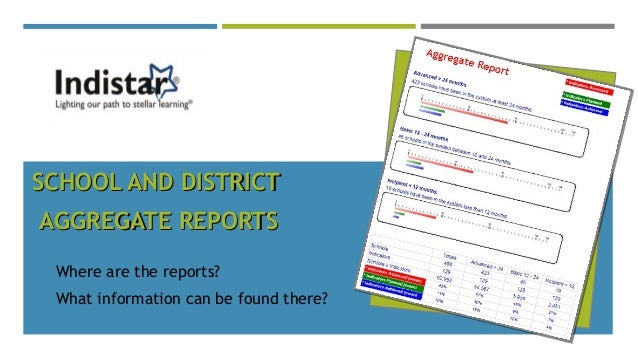 SCHOOL AND DISTRICTSCHOOL AND DISTRICT AGGREGATE REPORTSAGGREGATE REPORTS Where are the reports? What information can be f...