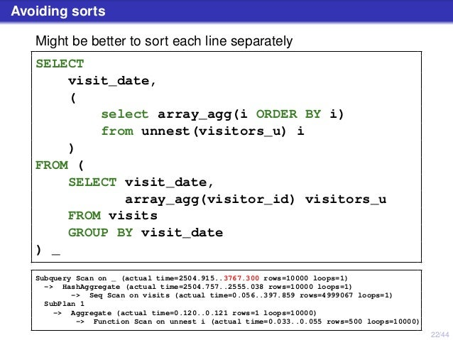 PostgreSQL, performance for queries with grouping