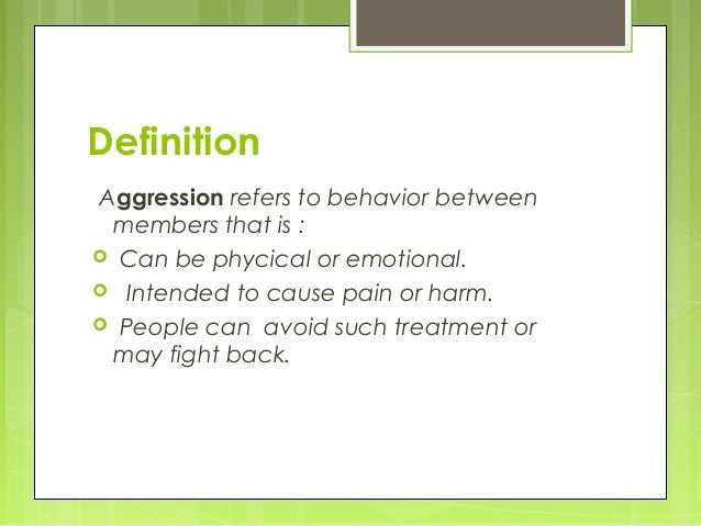 Causes Of Aggression: A Psychological Perspective