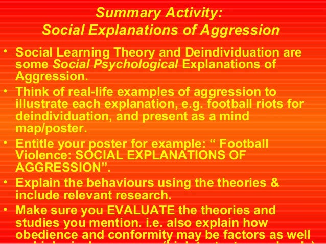 a critical evaluation on two theories of aggression Leadership theories seek to answer this question and  but that experience and situational variables also play a critical role a closer look at leadership.