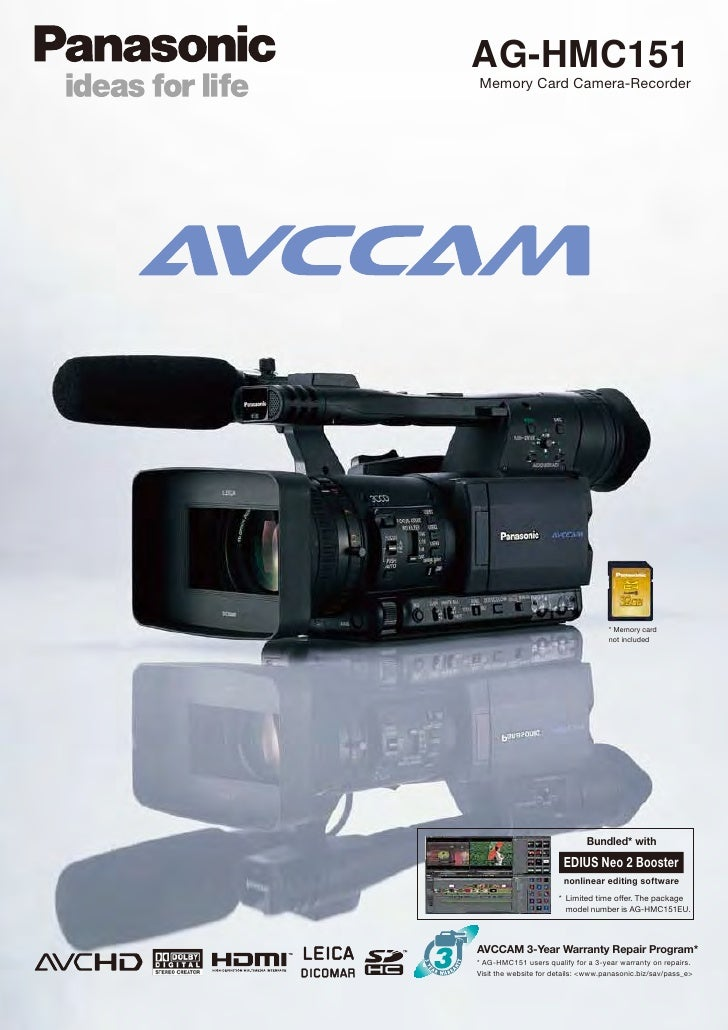 AG-HMC151Memory Card Camera-Recorder                                     * Memory card                                    ...