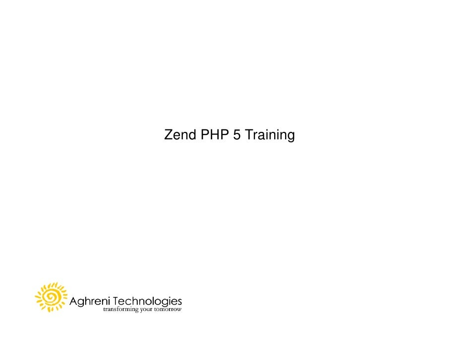 Zend PHP 5 Training