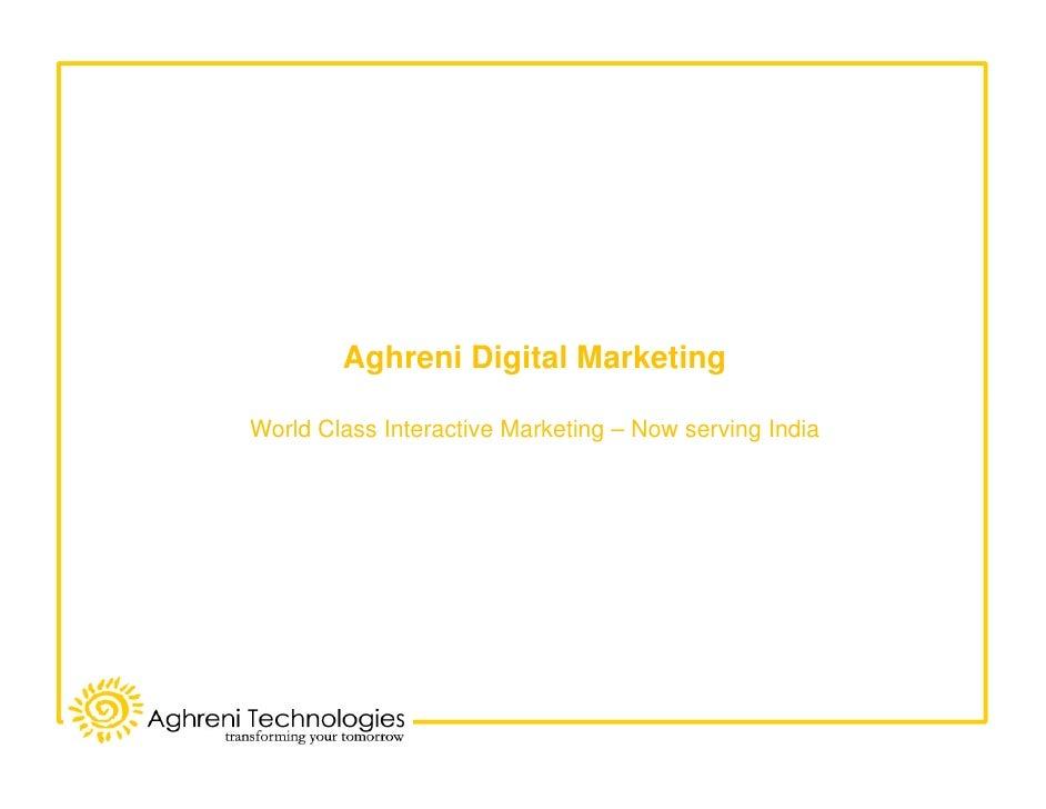 Aghreni Digital Marketing  World Class Interactive Marketing – Now serving India
