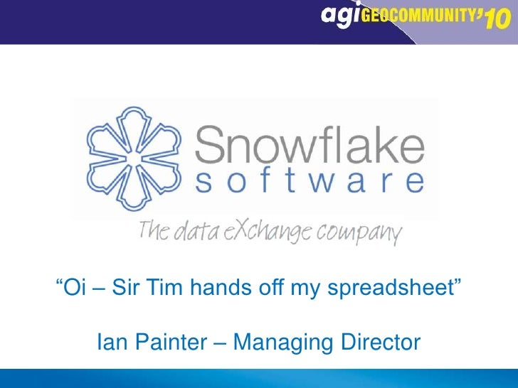 """Oi – Sir Tim hands off my spreadsheet""<br />Ian Painter – Managing Director<br />"