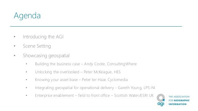 AGI Understanding Location - what is so important about geospatial Slide 2
