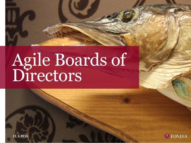 Agile Boards of Directors 11.3.2015