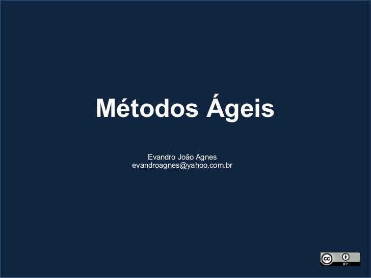 Métodos Ágeis      Evandro João Agnes  evandroagnes@yahoo.com.br
