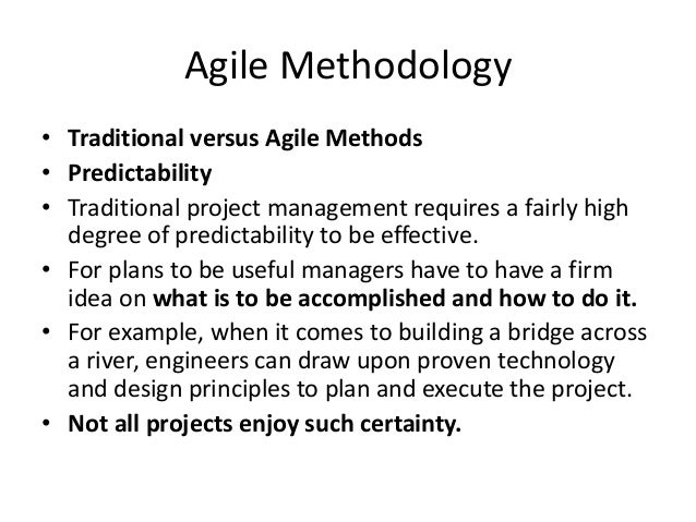 Agile project management for Agile vs traditional methodologies