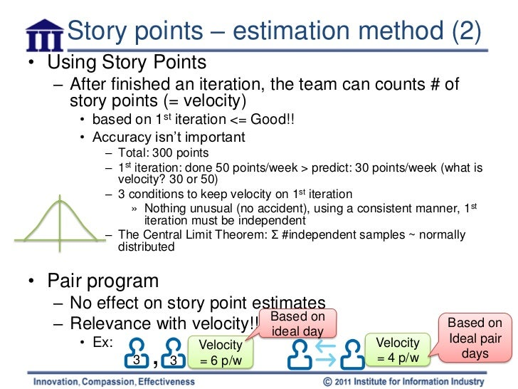Agile estimating user stories