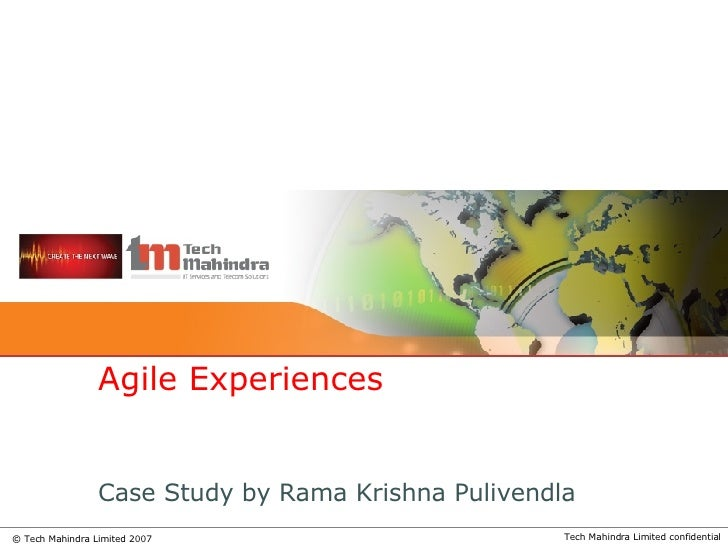 Case Study by Rama Krishna Pulivendla Agile Experiences