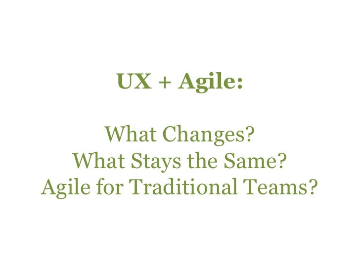 Agile For UX Practitioners Slide 3