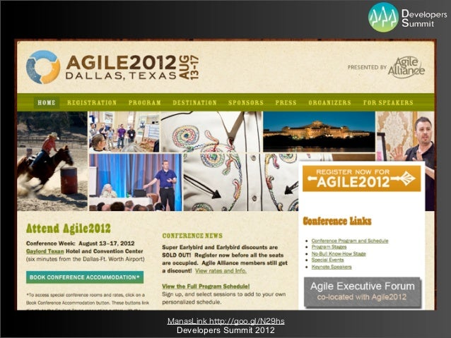 ManasLink http://goo.gl/N29hs  Developers Summit 2012
