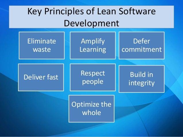Agile lean software development principles