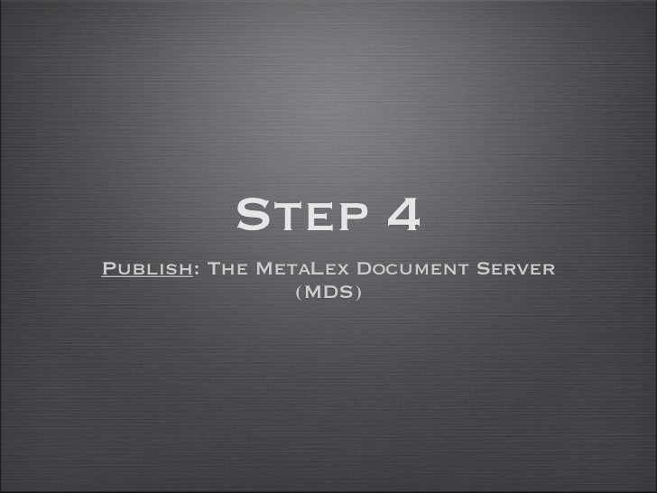 Document Serving• RESTful API  • Implement Cool URIs      (Dereference to XML, RDF, .net)  • Shorthands ('/latest')  • SPA...