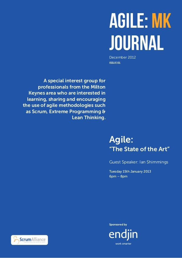 Agile: MK           December 2012                                        Journal                                        De...