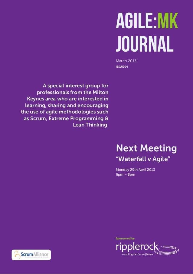 Agile:MK Journal                                          Agile:MK                                          Journal       ...