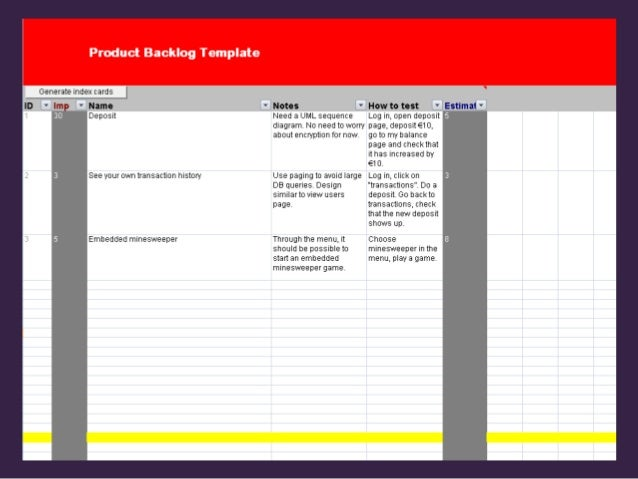 Agile Product Backlog Template for Excel, Free Download 🡆 http://bit…