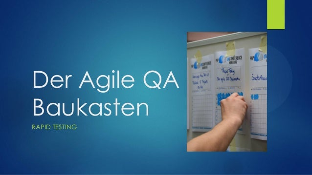 Der Agile QA Baukasten  RAPID TESTING