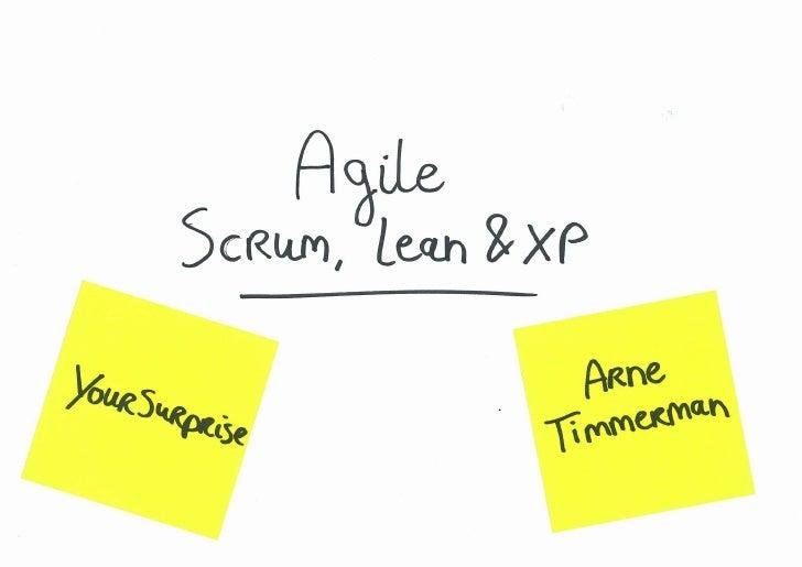 Agile: Scrum, Lean en eXtreme Programming