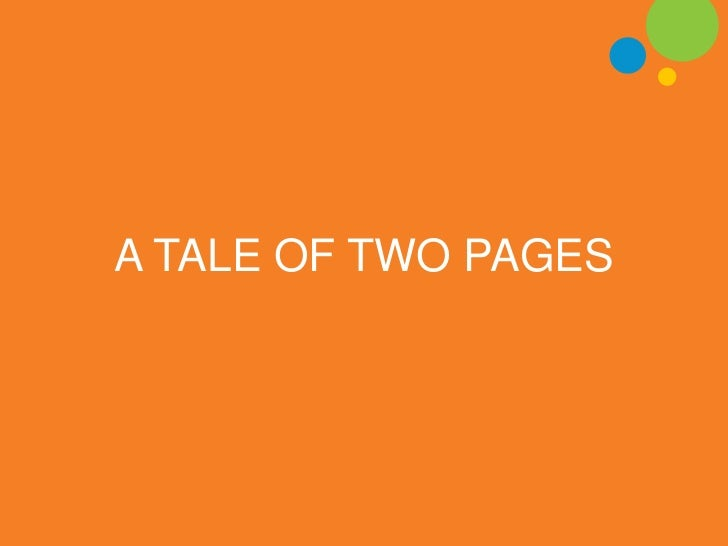 A TALE OF TWO PAGES