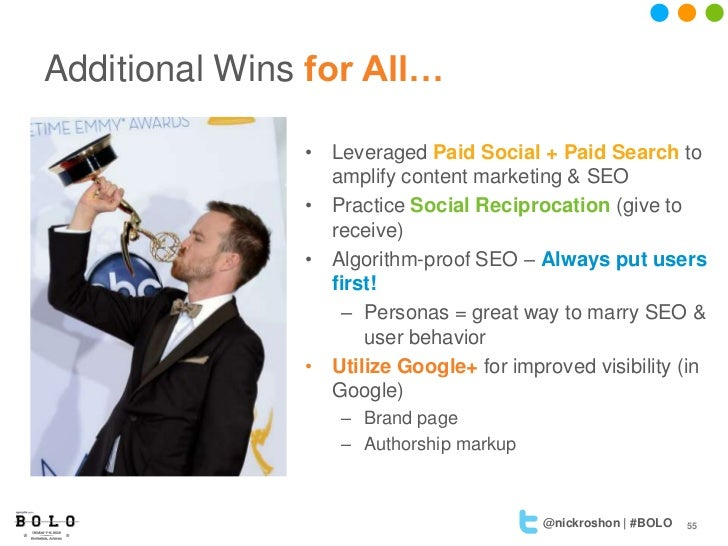 Additional Wins for All…               • Leveraged Paid Social + Paid Search to                 amplify content marketing ...