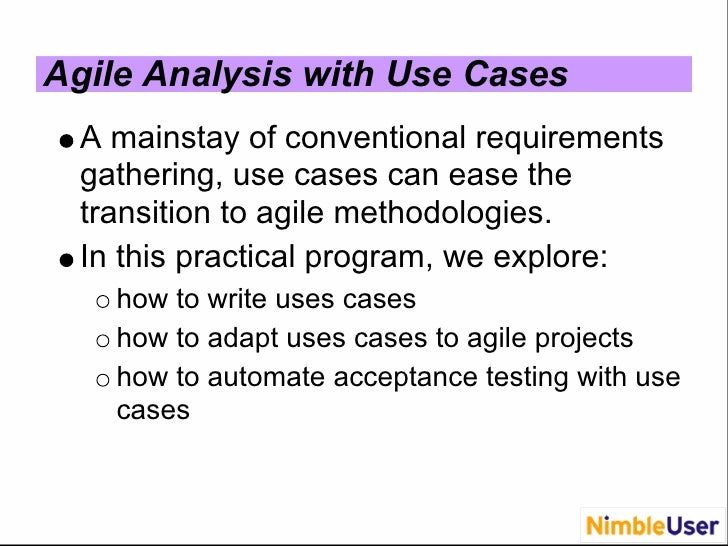 What makes a good requirement document for an agile project