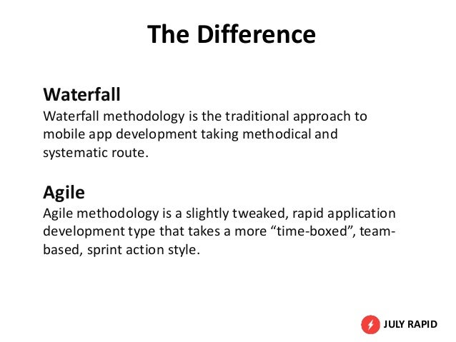Agile vs waterfall methodology what s best for mobile app for Waterfall application development