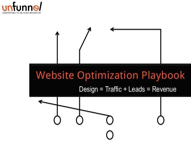 Website Optimization Playbook Design = Traffic + Leads = Revenue