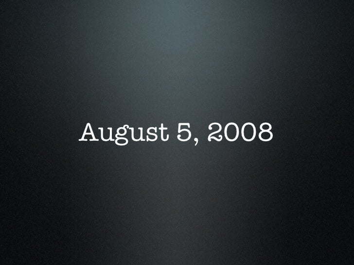 August 5, 2008