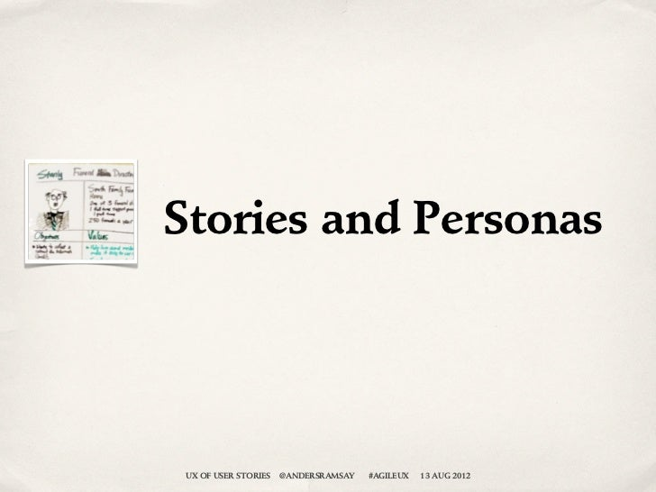 Stories and Personas UX OF