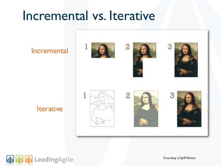 Incremental vs. Iterative Incremental  Iterative                            Courtesy of Jeff Patton