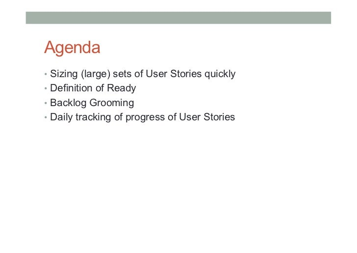 Working effectively with user stories Slide 2
