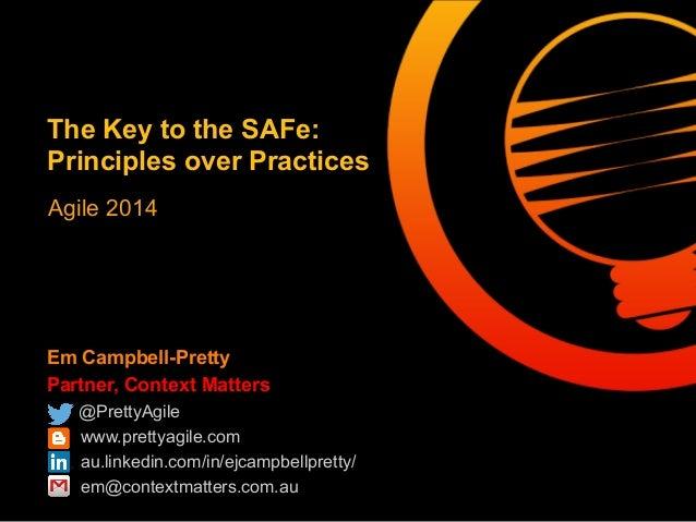 Em Campbell-Pretty Partner, Context Matters @PrettyAgile www.prettyagile.com au.linkedin.com/in/ejcampbellpretty/ em@conte...