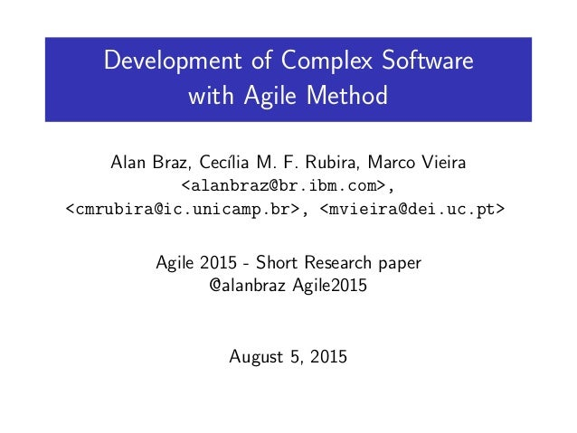 Adopting an Agile Approach for the Development of Mobile     Resume Samples Format Comparison between Agile and Traditional software development methodologies   PDF Download Available