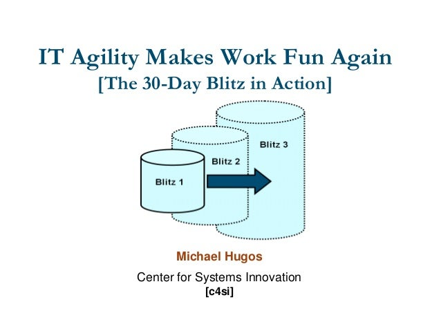 IT Agility Makes Work Fun Again [The 30-Day Blitz in Action]  Michael Hugos Center for Systems Innovation [c4si]