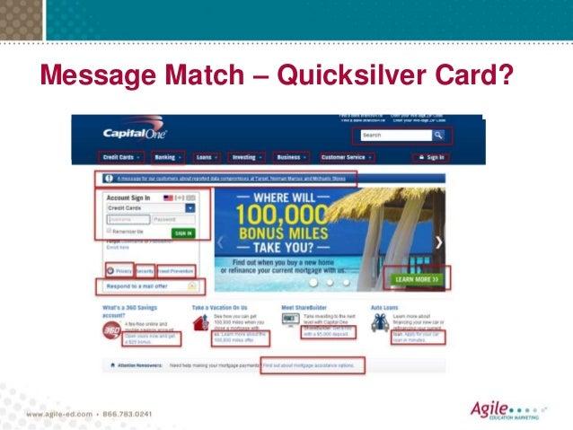 Message Match – Quicksilver Card?