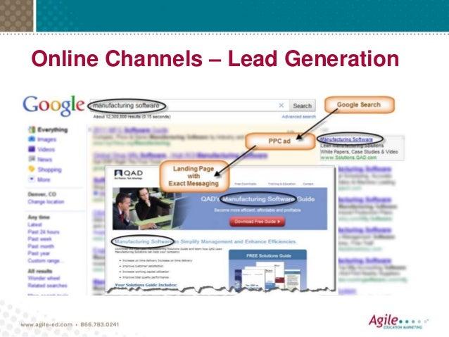 Online Channels – Lead Generation