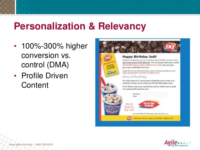 Personalization & Relevancy • 100%-300% higher conversion vs. control (DMA) • Profile Driven Content