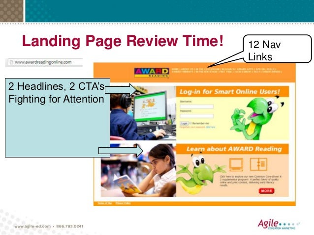 Landing Page Review Time! 12 Nav Links 2 Headlines, 2 CTA's Fighting for Attention